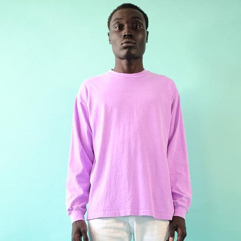 NEON LAVENDER - 18'S COTTON JERSEY LONG SLEEVE TEE