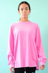 18'S COTTON LONG SLEEVE TEE - POST IT PINK