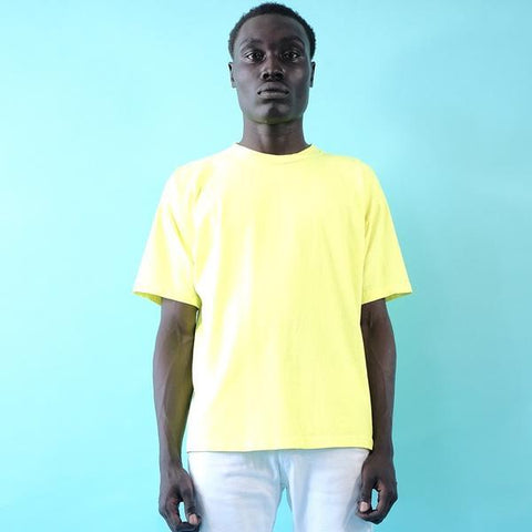 18'S COTTON  SHORT SLEEVE TEE - BUTTERCUP NEON