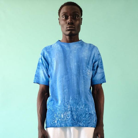 18'S COTTON  SHORT SLEEVE TEE - AQUARIUM BLUE
