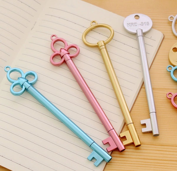 Key Shaped Gel Pen Set of 4