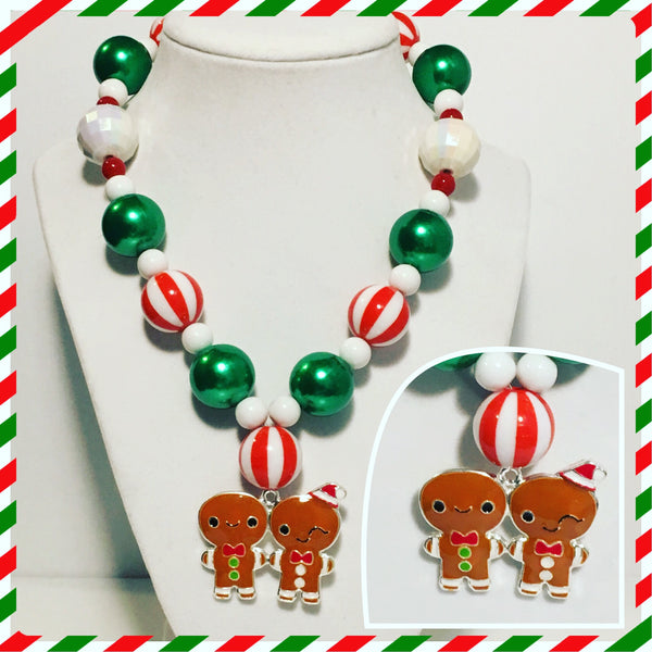 Children's Gingerbread Men Necklace