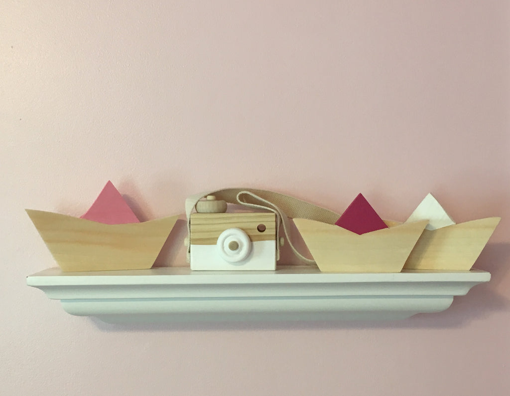 Nordic Inspired Wooden Boat, Kids Room Decor