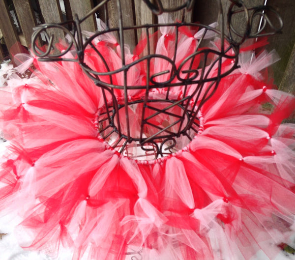 Valentine Hugs and Kisses Tutu, Valentines Day Tutu, Valentines Tutu, Red Valentines Day Tutu