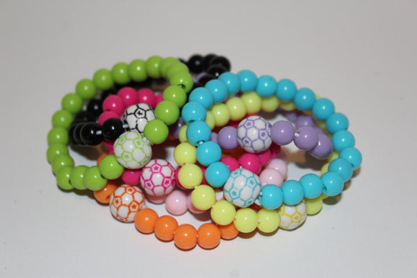 Children's Soccer Ball Bracelet (multiple color options including gender neutral colors available)