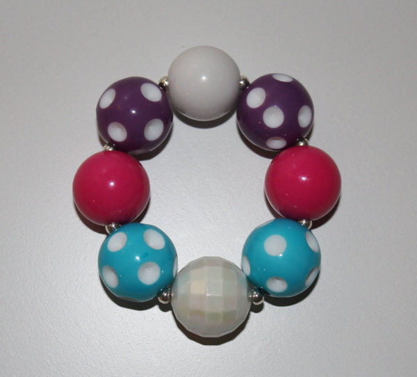 Multi-color Polka Dot Chunky Bubblegum Bracelet