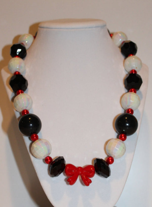 Cruella DeVille Inspired Chunky Necklace, Children's Necklace, Teenager Necklace, Adult Necklace