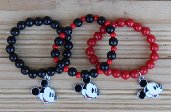 Gender Neutral Mickey Mouse Inspired Bracelet (Multiple Color Options!)