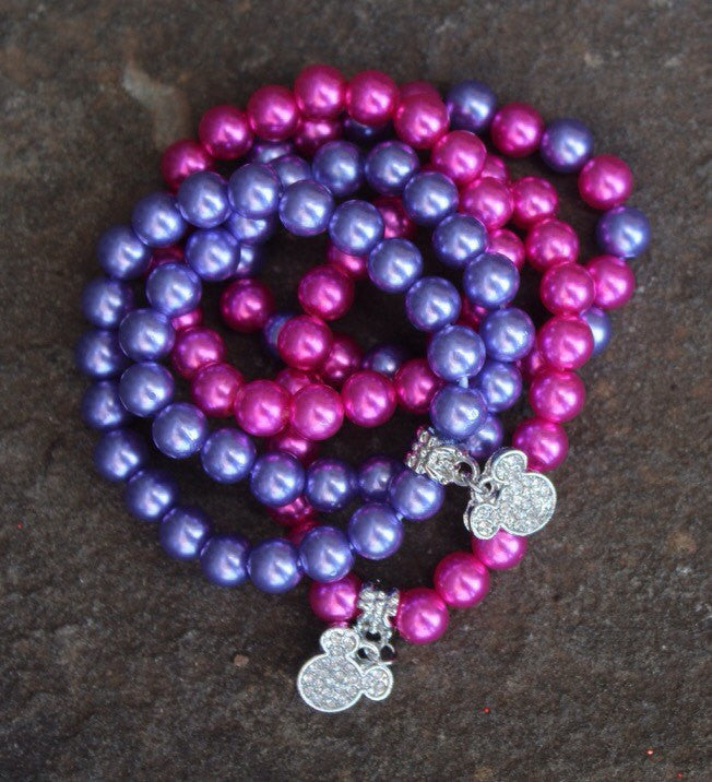 Sparkling Minnie Mouse Inspired Bracelet (Multiple Color Options!)