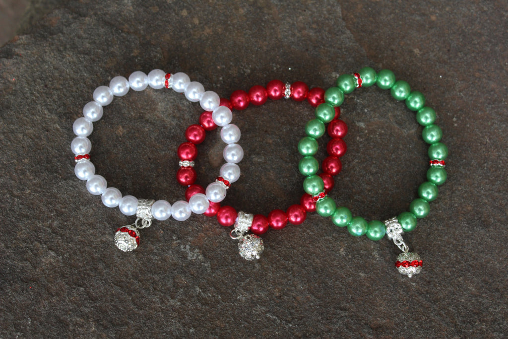 Holiday Sparkle and Charm Bracelet (Multiple Color Options!) - JTJ15801