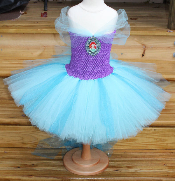 Ariel Inspired Tutu Dress - Fully lined top sizes 4T and up