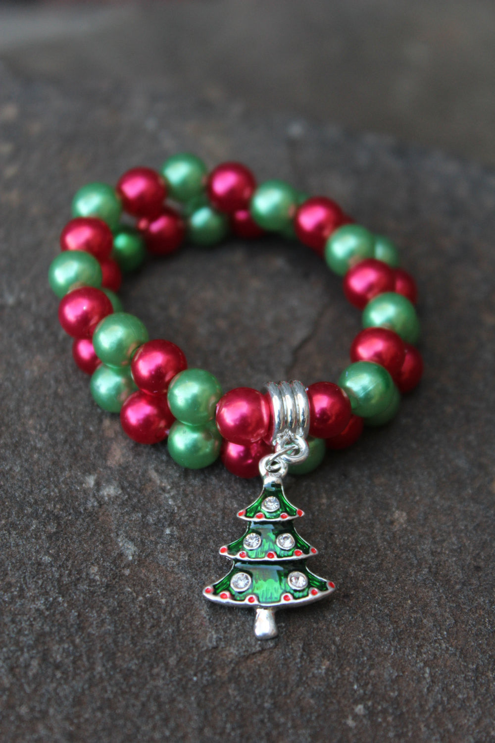 Stackable Holiday Bracelets with Christmas Tree Variation(Multiple Color Options!) - JTJ15803