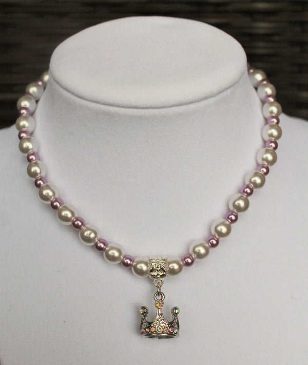 Sofia the First Inspired Necklace with Crown Charm - JTJ15704