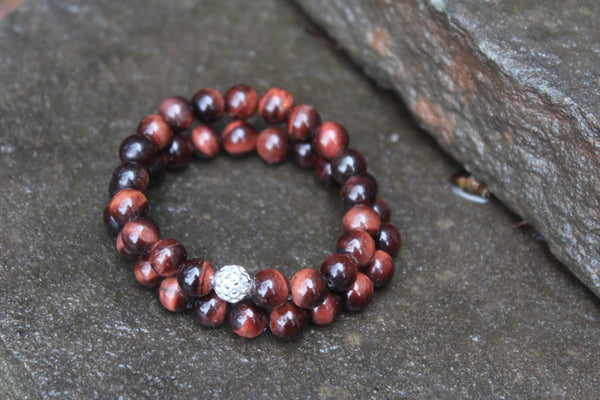 Genuine Red Tiger Eye Bracelet