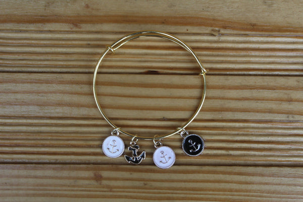 Women's Nautical Gold Bangle Bracelet - JTB15001
