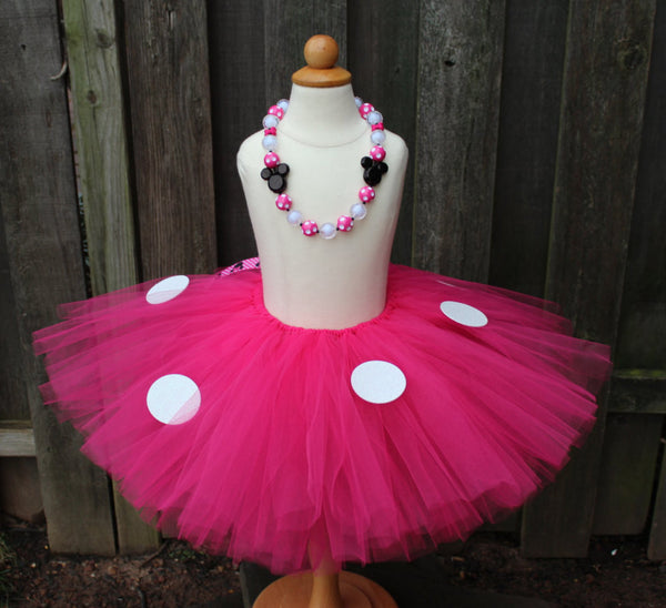 Hot Pink Minnie Mouse Inspired Tutu