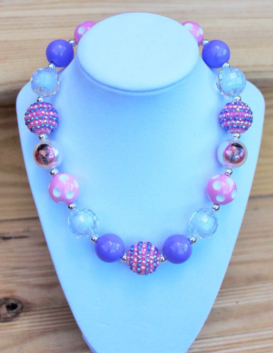 Doc McStuffins Inspired Chunky Bubblegum Necklace