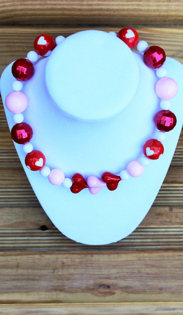 Valentine Inspired Chunky Bubblegum Necklace