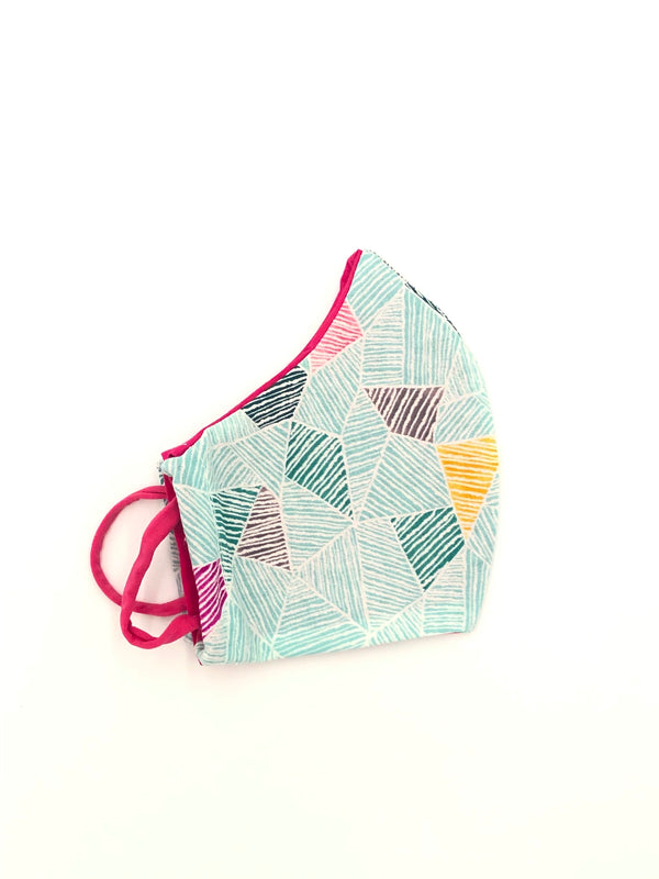 Ready to Ship - Vibrant geometric reversible face mask