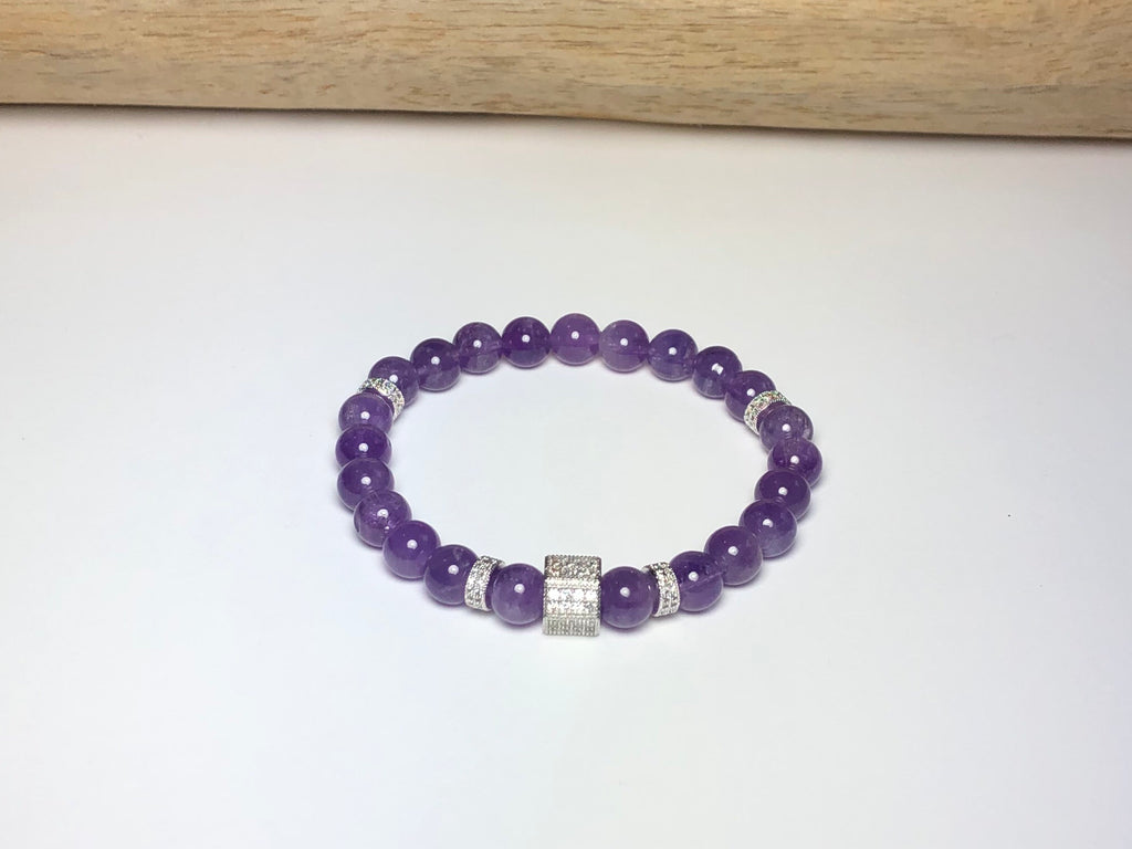 Amethyst and Pave Bracelet