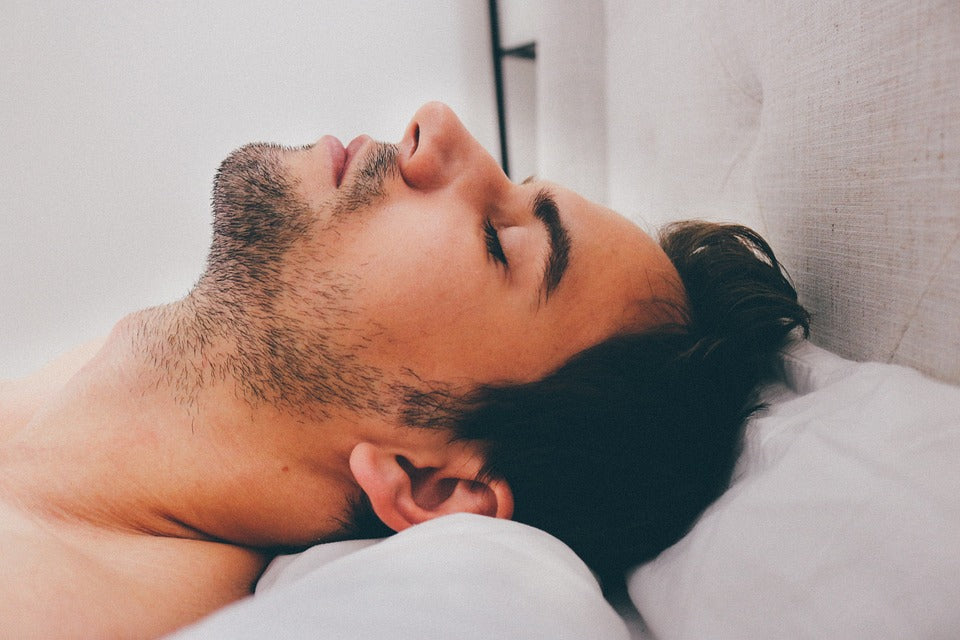 Man Sleeping For Beard Growth