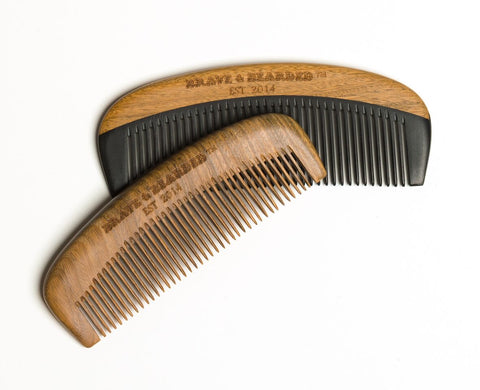 Sandalwood and Bakelite beard combs