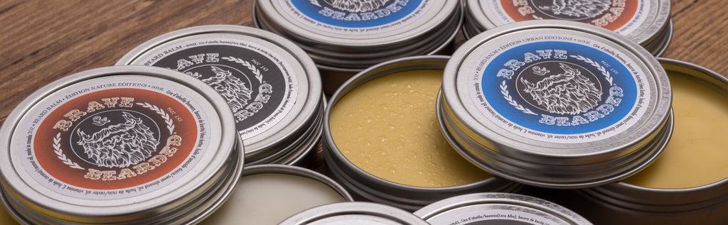 Sculpting beard balm for beard styling
