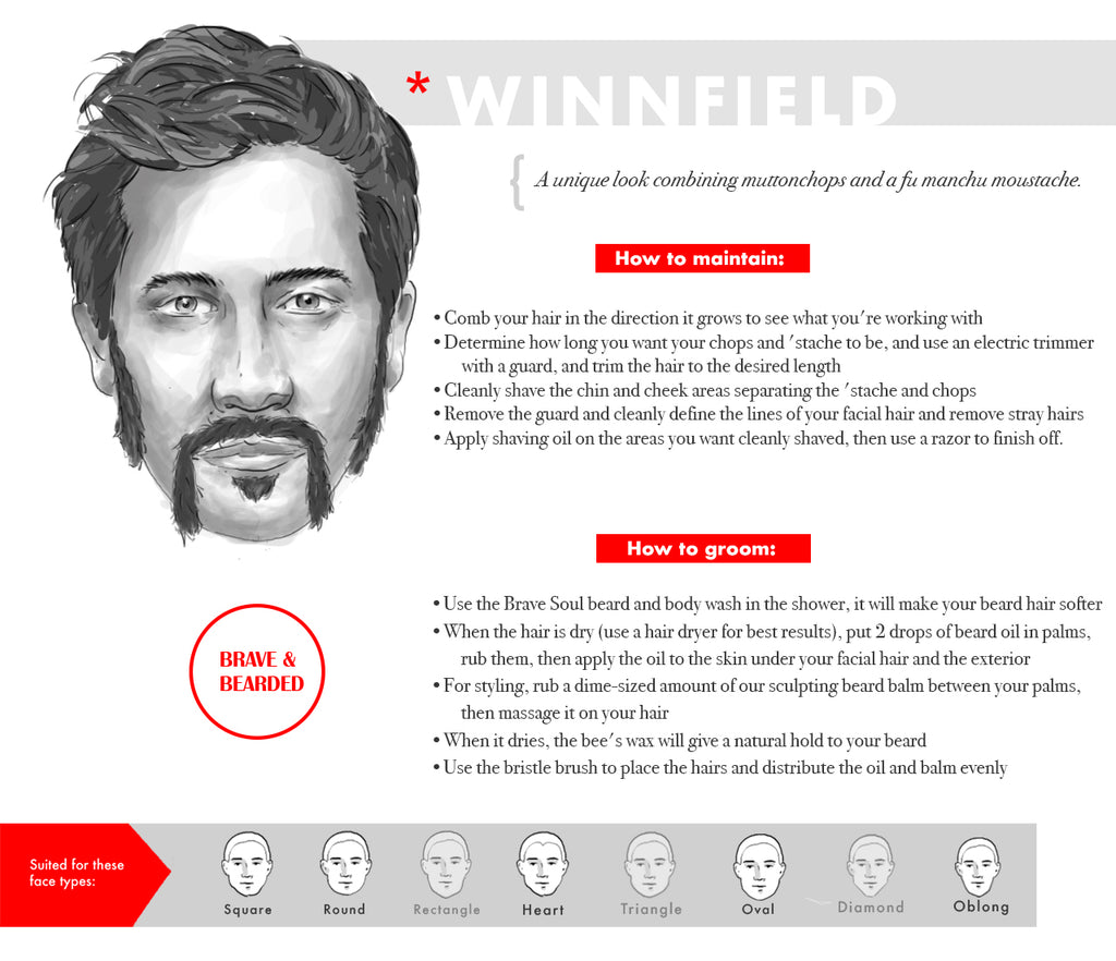 Man with Winnfield beard style