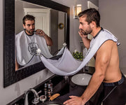 Beard bib, beard hair catcher, beard trimming net, beard shaving bib, suction cup mirror beard bib