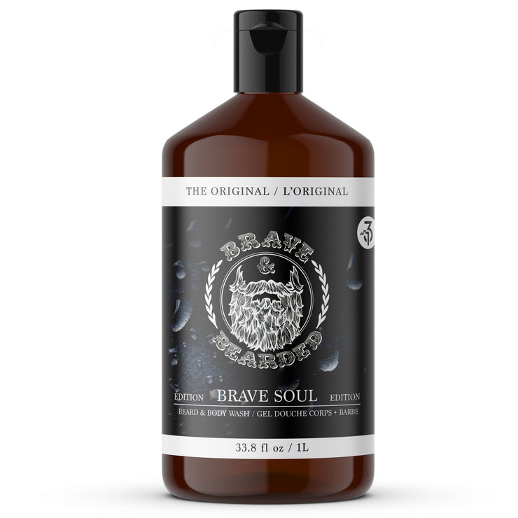 Beard Shampoo and Body Wash by Brave & Bearded - 1L