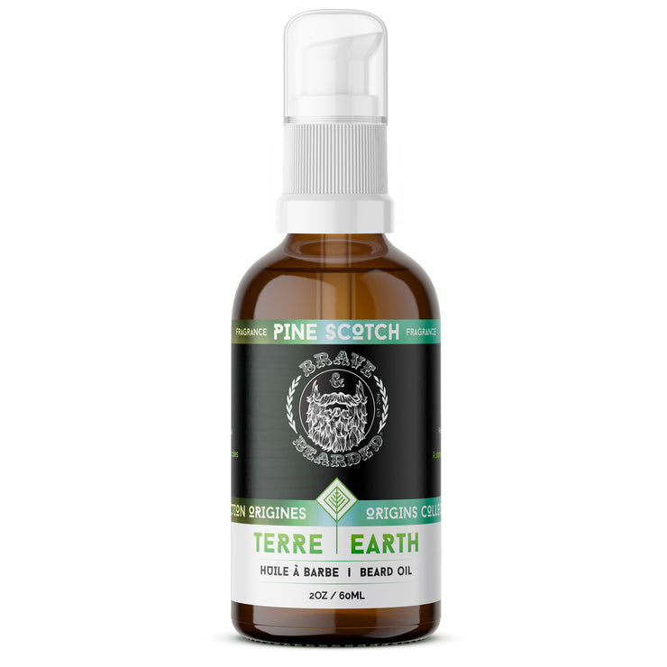 60 ml Pine Scotch Beard Oil by Brave & Bearded
