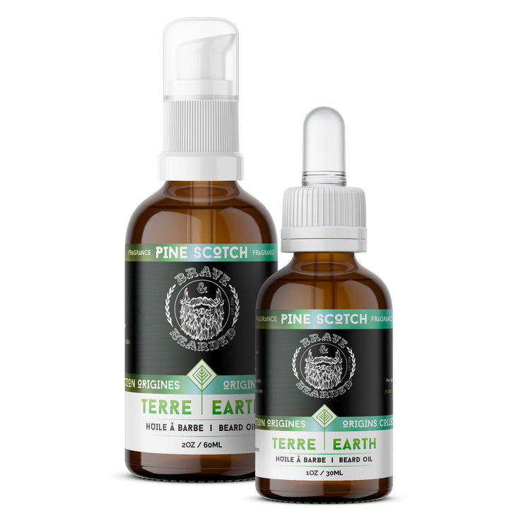 Pine Scotch Beard Oils by Brave & Bearded