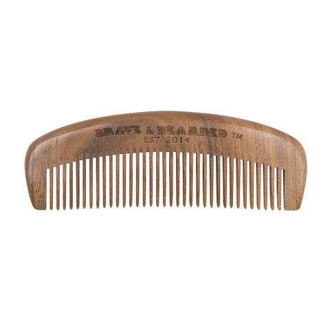 Sandalwood Beard Comb by Brave & Bearded