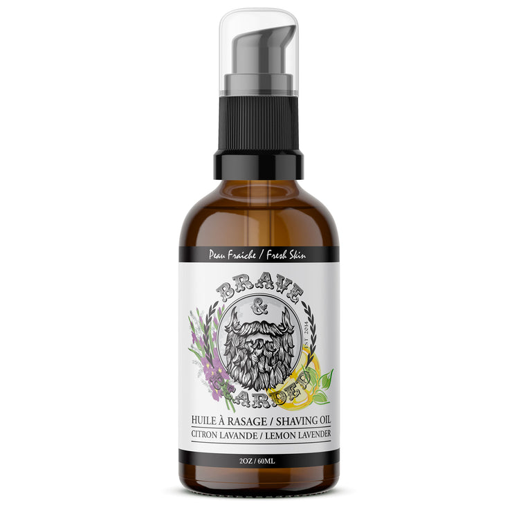 Pre-Shaving Oil Lemon & Lavender Scented by Brave & Bearded - 60ml