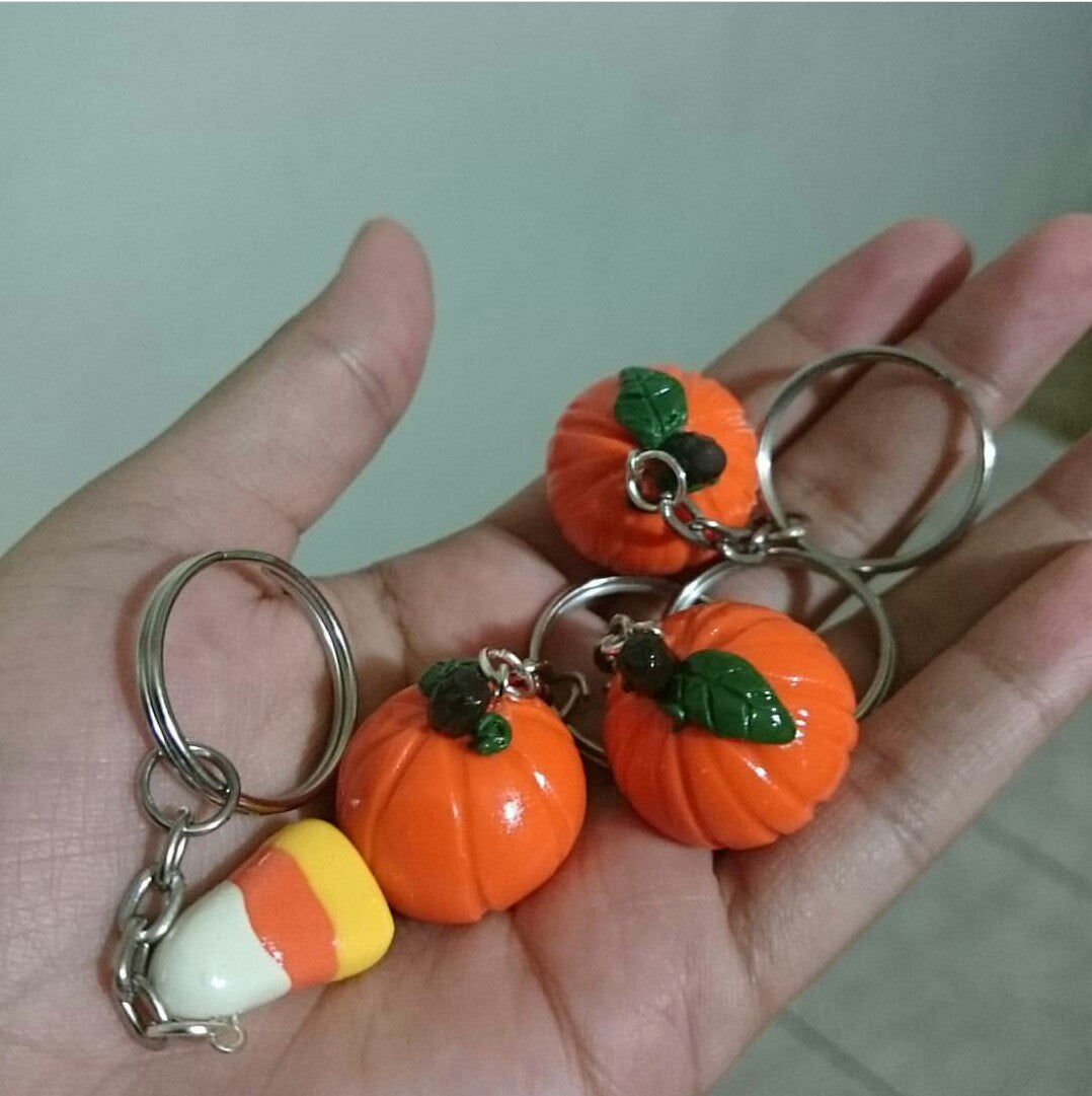 halloween key charms - polymer clay superstore