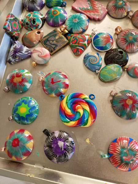 More Polymer Pendants!