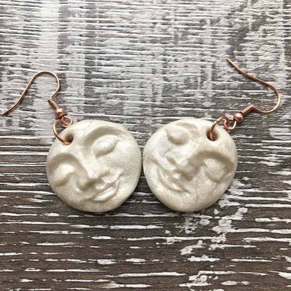 White Face Earrings