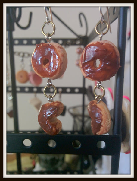 Chocolate Donut Earrings