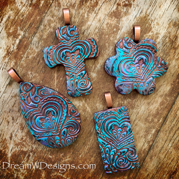 Brown and Blue Pendants