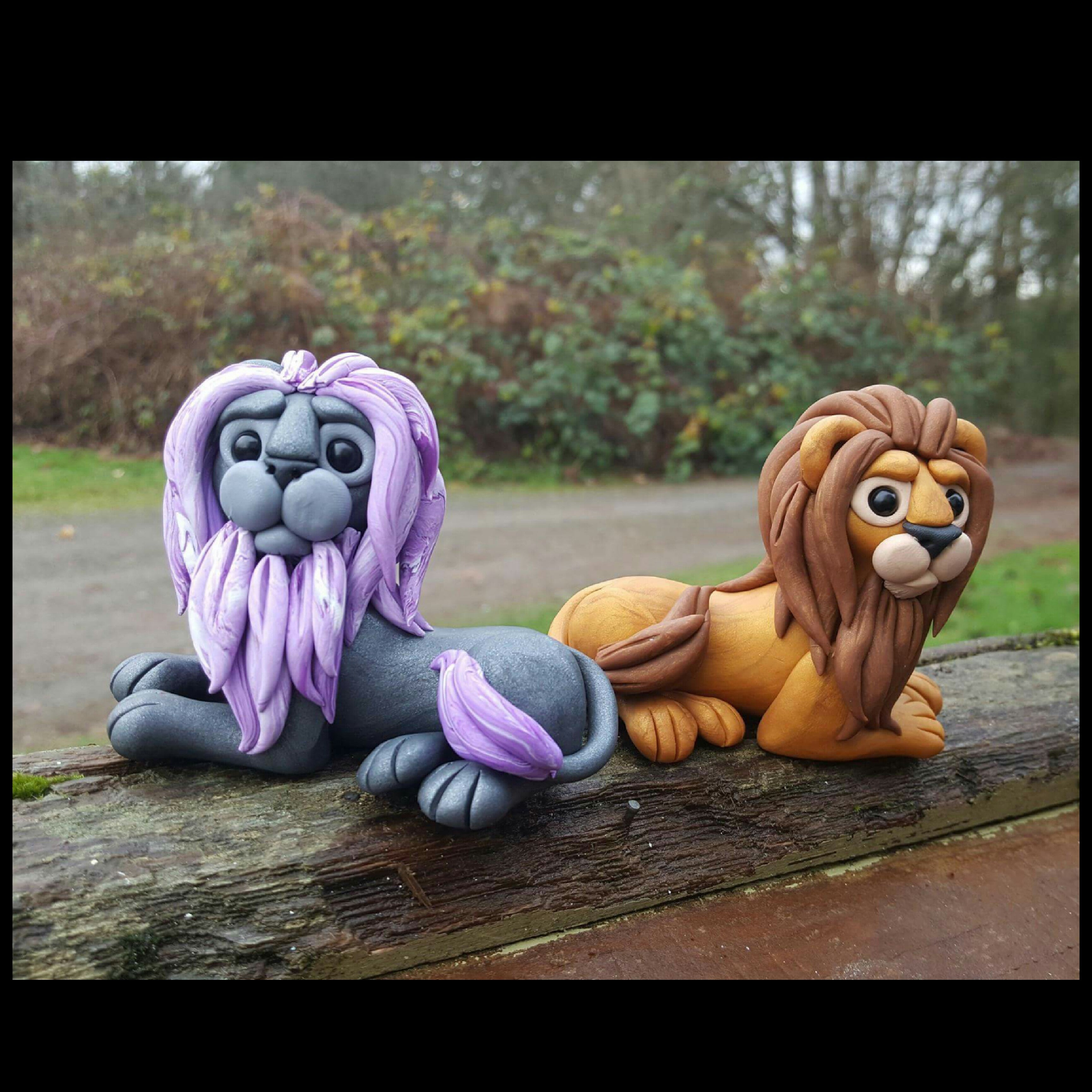 Grey and Brown Lions