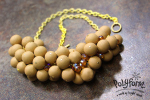 Sculpey Souffle Latter Cluster Bead Necklace  (Syndee Holt)