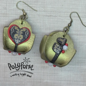 Premo! Sculpey Queen of Hearts Earrings (Amy  Koranek)