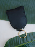 Leather Brass Ring Pouch Minaudière Myers Collective Otaat Wristlet Handbag