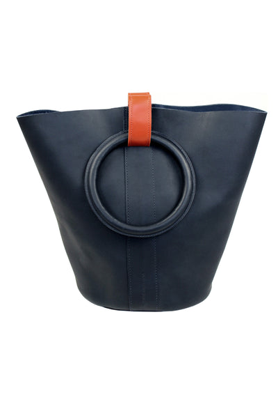 Myers Collective Small Round Bucket Navy