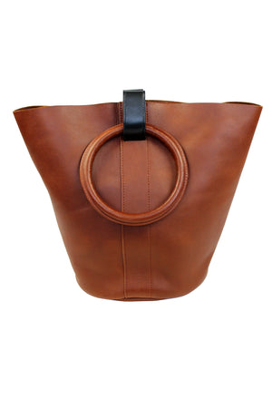 Myers Collective Small Round Bucket Tobacco