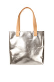Myers Collective Square Tote Silver body / Natural strap