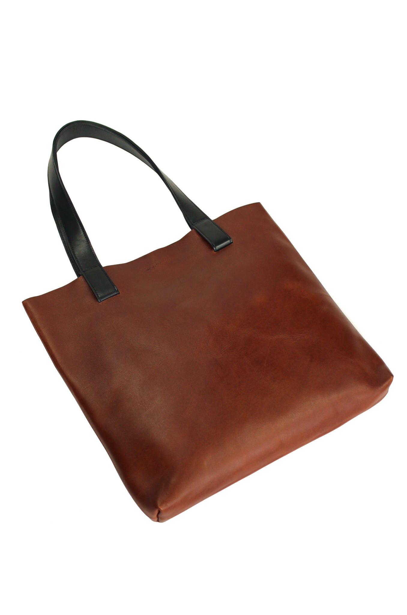Myers Collective Square Tote Tobacco body / Black strap
