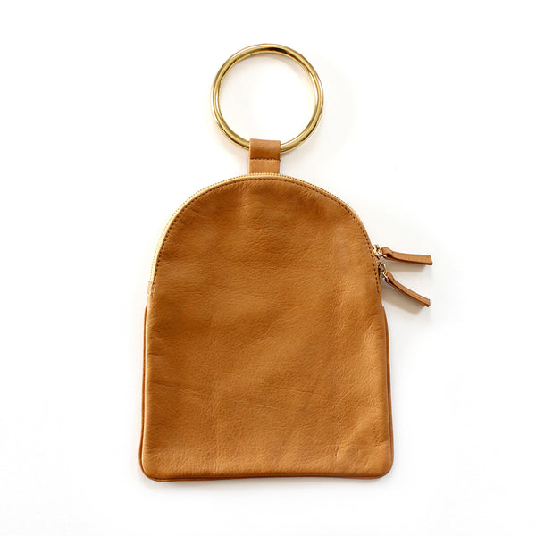 Large Ring Pouch from Myers Collective's collaboration with Otaat. Soft cowhide leather pouch, with brass ring that slips easily on the wrist. Unlined.