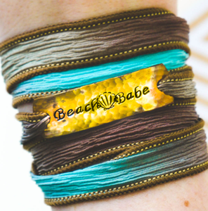 Beach Babe Silk Wrap Bracelet