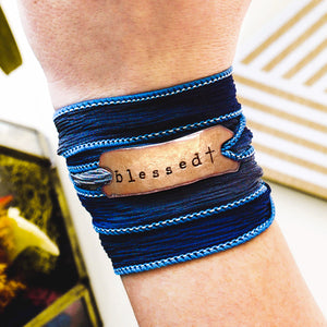 Blessed Silk Wrap Bracelet